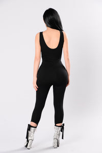 Look Me Up And Down Jumpsuit - Black Angle 2
