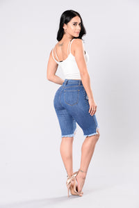 Angel In Blue Disguise Shorts - Medium Wash
