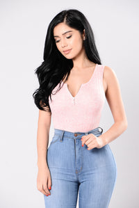 South Of You Bodysuit - Dusty Pink