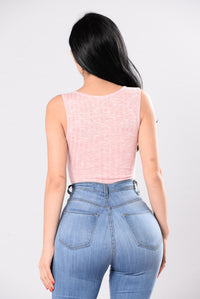 South Of You Bodysuit - Dusty Pink Angle 3
