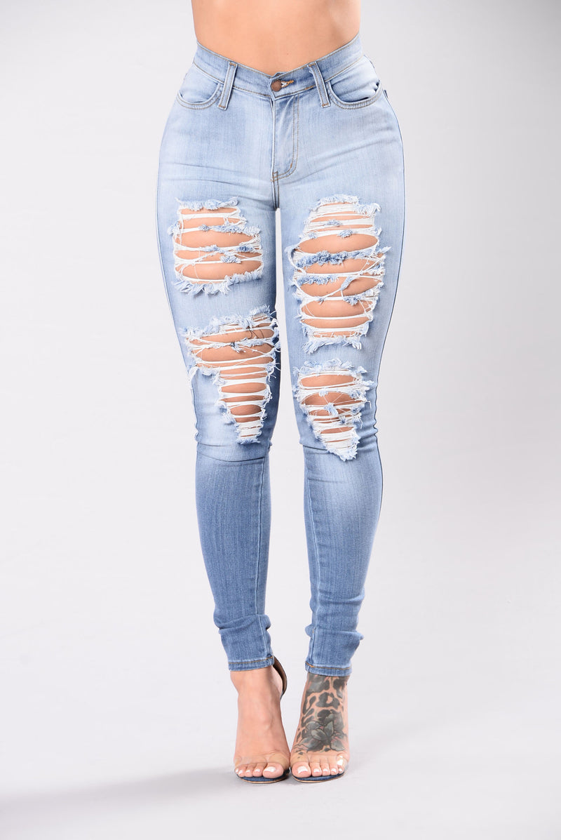 Casual Girl Jeans - Light Wash