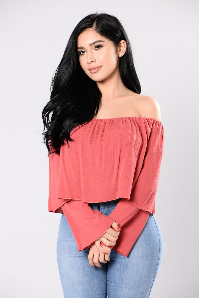One Night In Greece Top - Coral