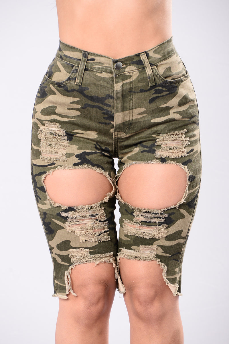 Angel In Blue Disguise Shorts - Camo