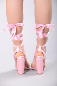 You Got Satin Heel - Pink