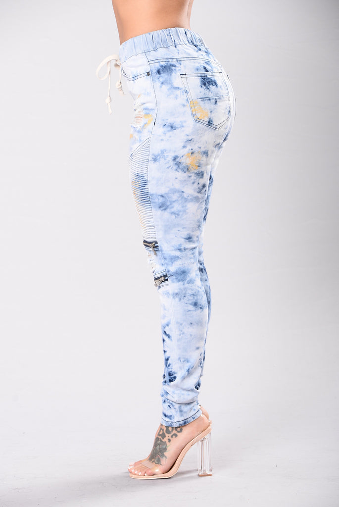 Paint Saint Joggers - Dark Blue/Gold