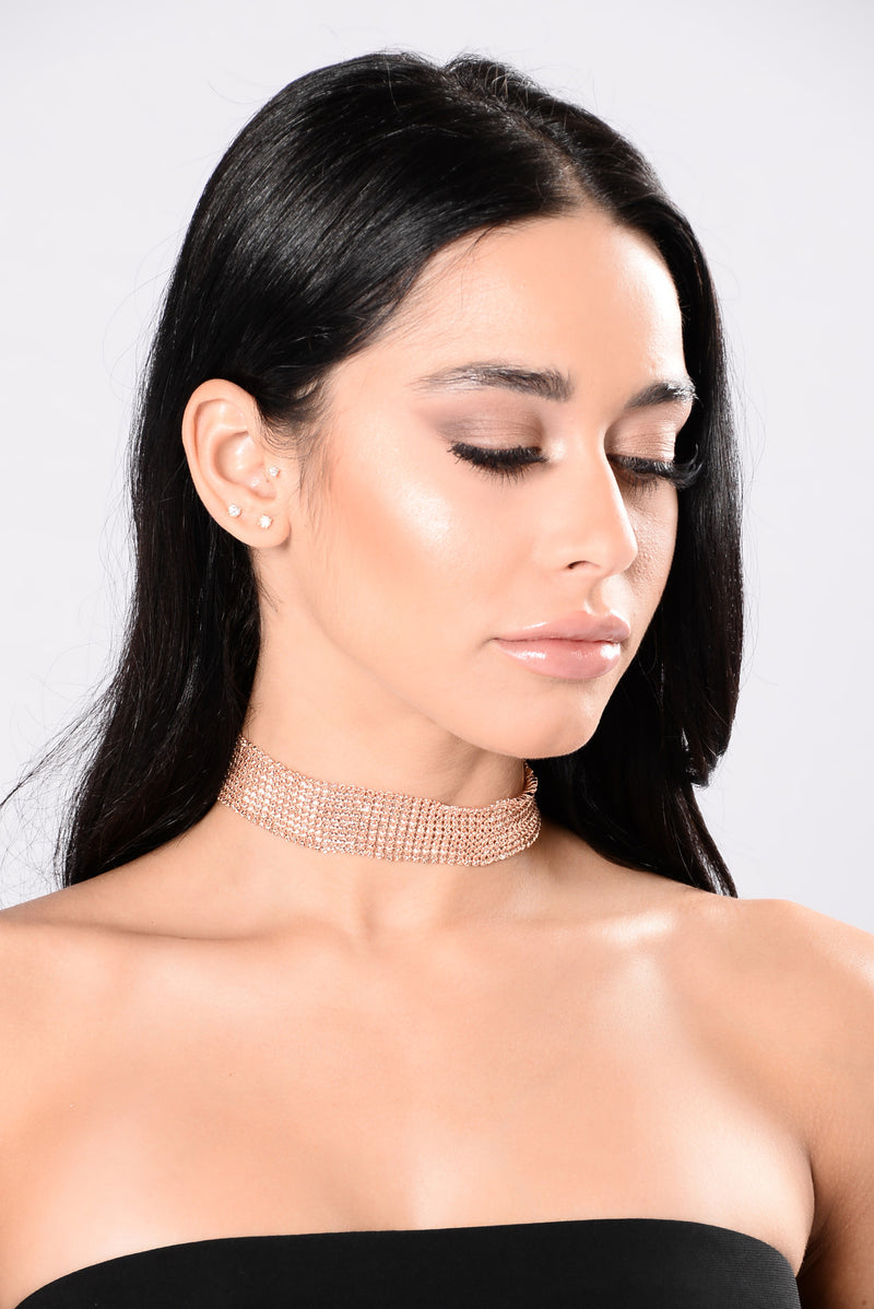 Contradictions Choker - Rose Gold