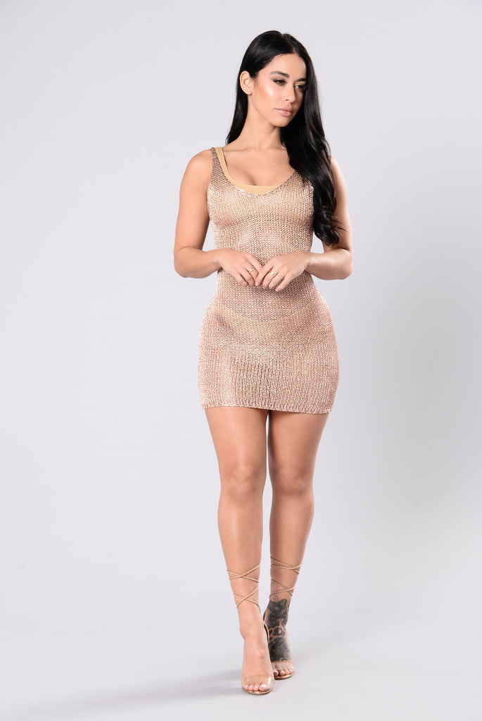 Maui Cover Up Dress - Rose Gold