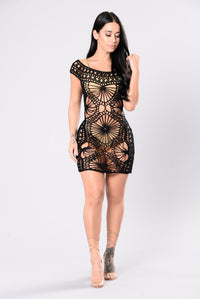 Big Island Cover Up Dress - Black