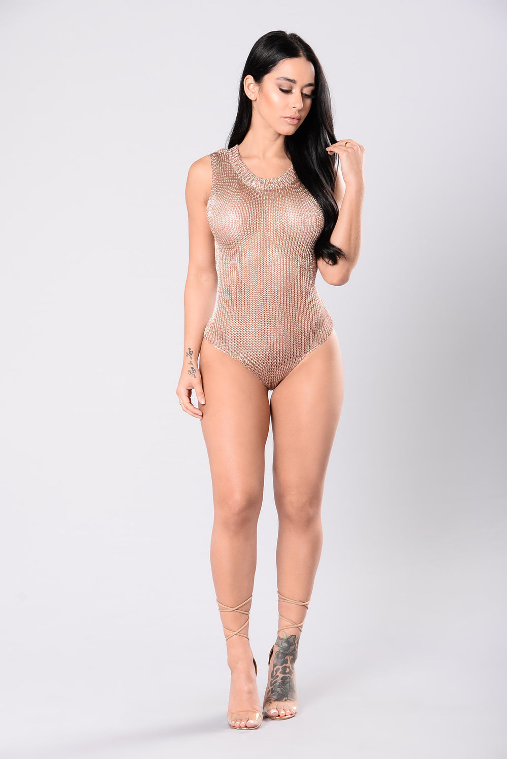 Number One Spot Bodysuit - Rose Gold