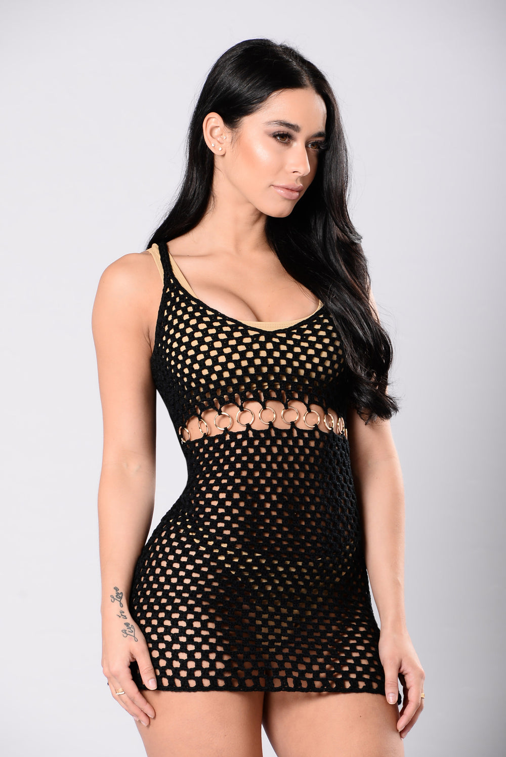 Bali Cover Up Dress - Black