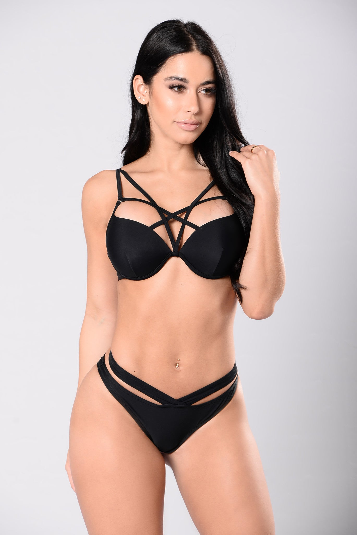 ccb9809878e00 Swimming In Champagne Bikini - Black