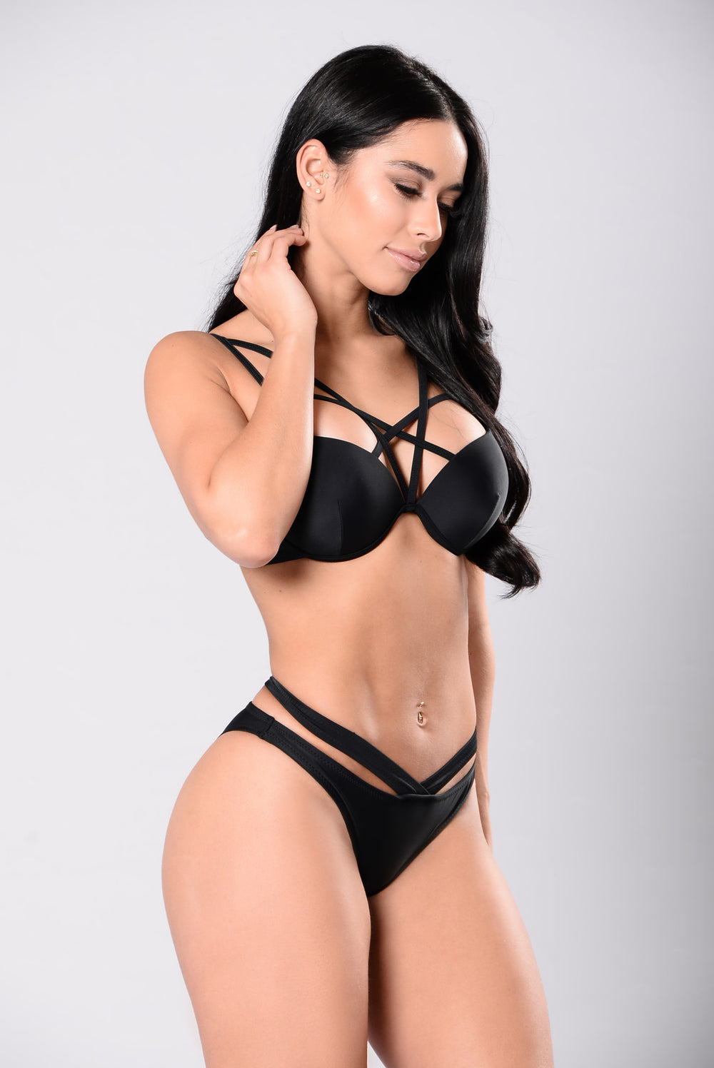 Swimming In Champagne Bikini - Black