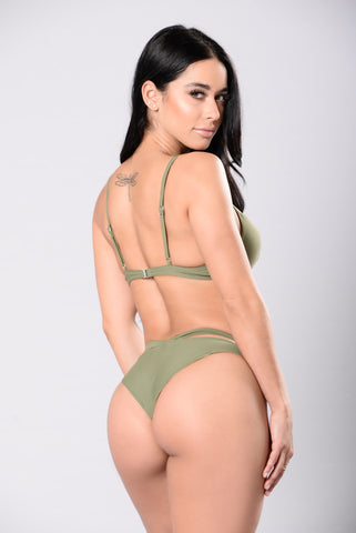 Swimming In Champagne Bikini - Olive