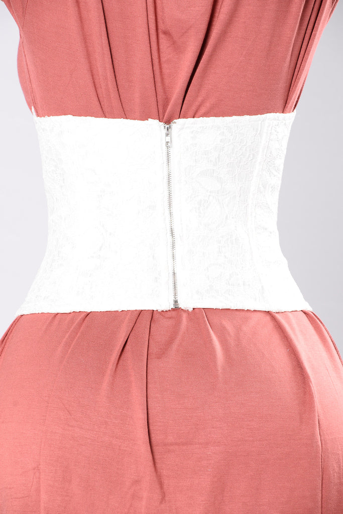 Just The Right Touch Corset Belt - White