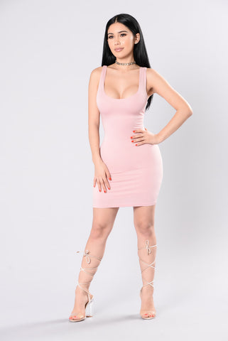 Scoop Of Your Fave Dress - Rose