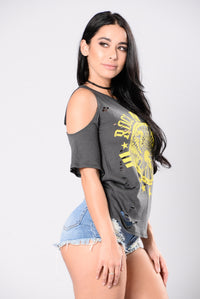 Groupie Love Tee - Grey