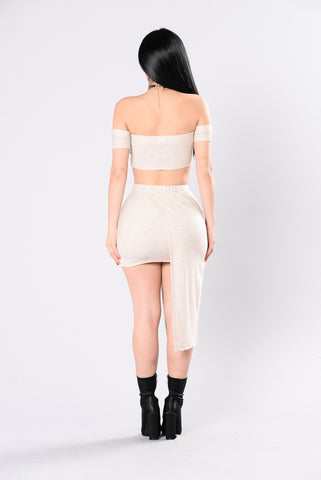 Such A Threat Skirt - Taupe