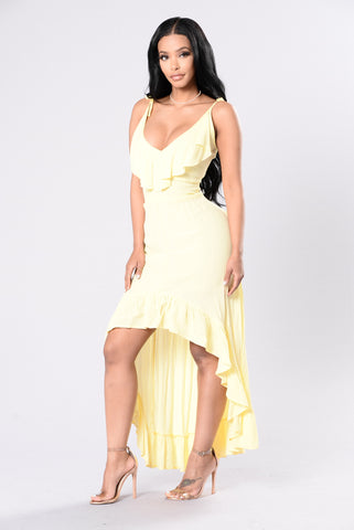 Picnic Date Dress - Lemon