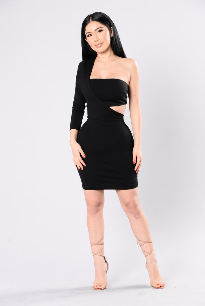 Cut You out of My Heart Dress - Black