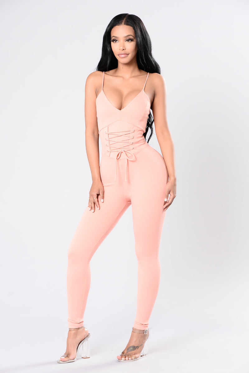 Been Ready Jumpsuit - Blush