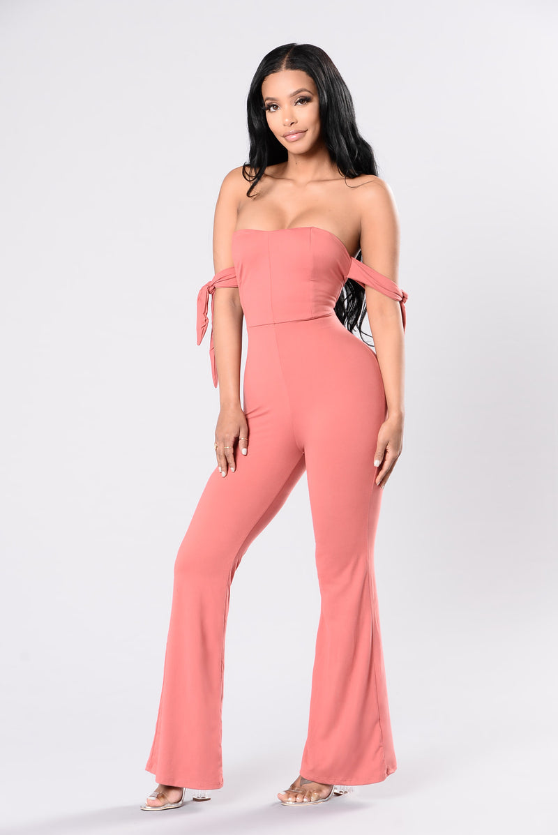 Make You Look Jumpsuit - Salmon