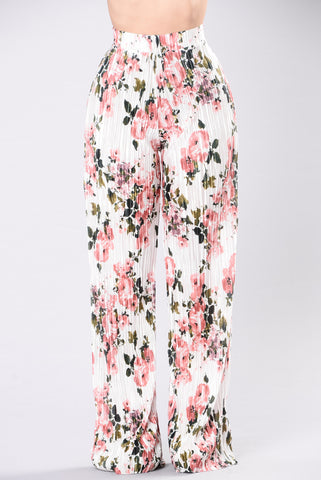 Garden Glam Pants- Ivory