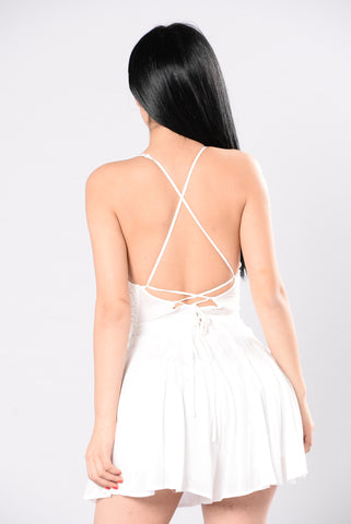 Lightning In A Bottle Romper - White