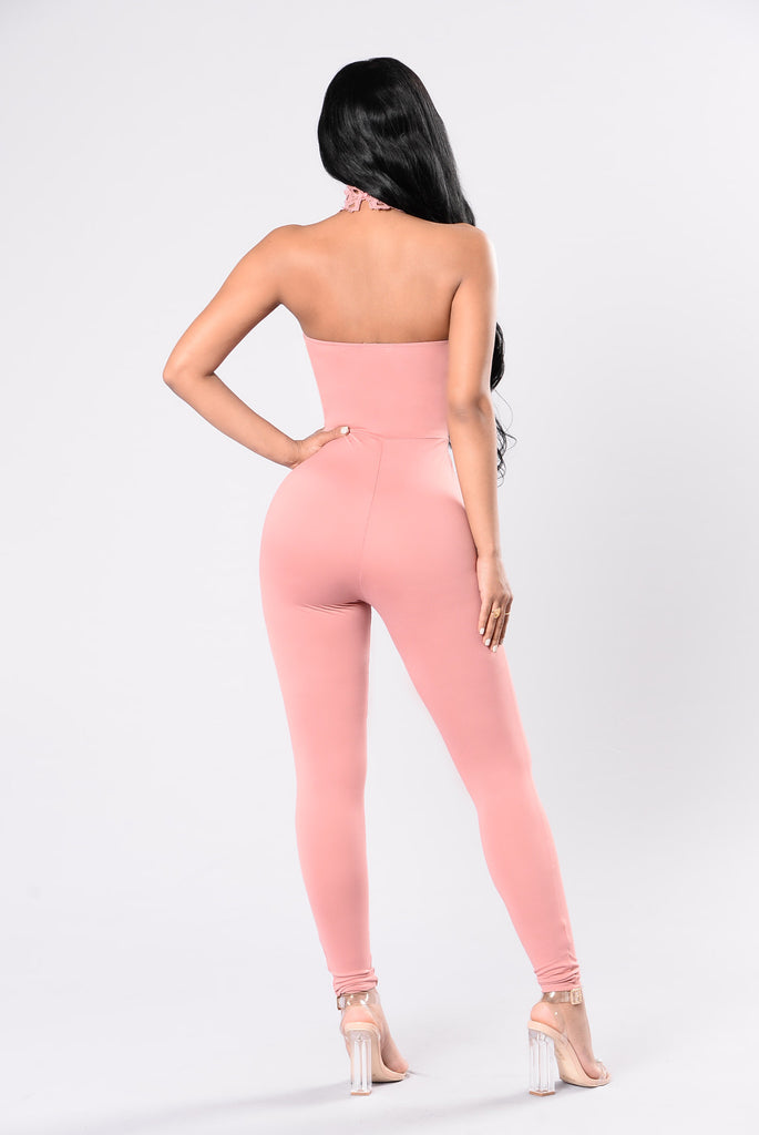 Love Me Down Jumpsuit - Blush