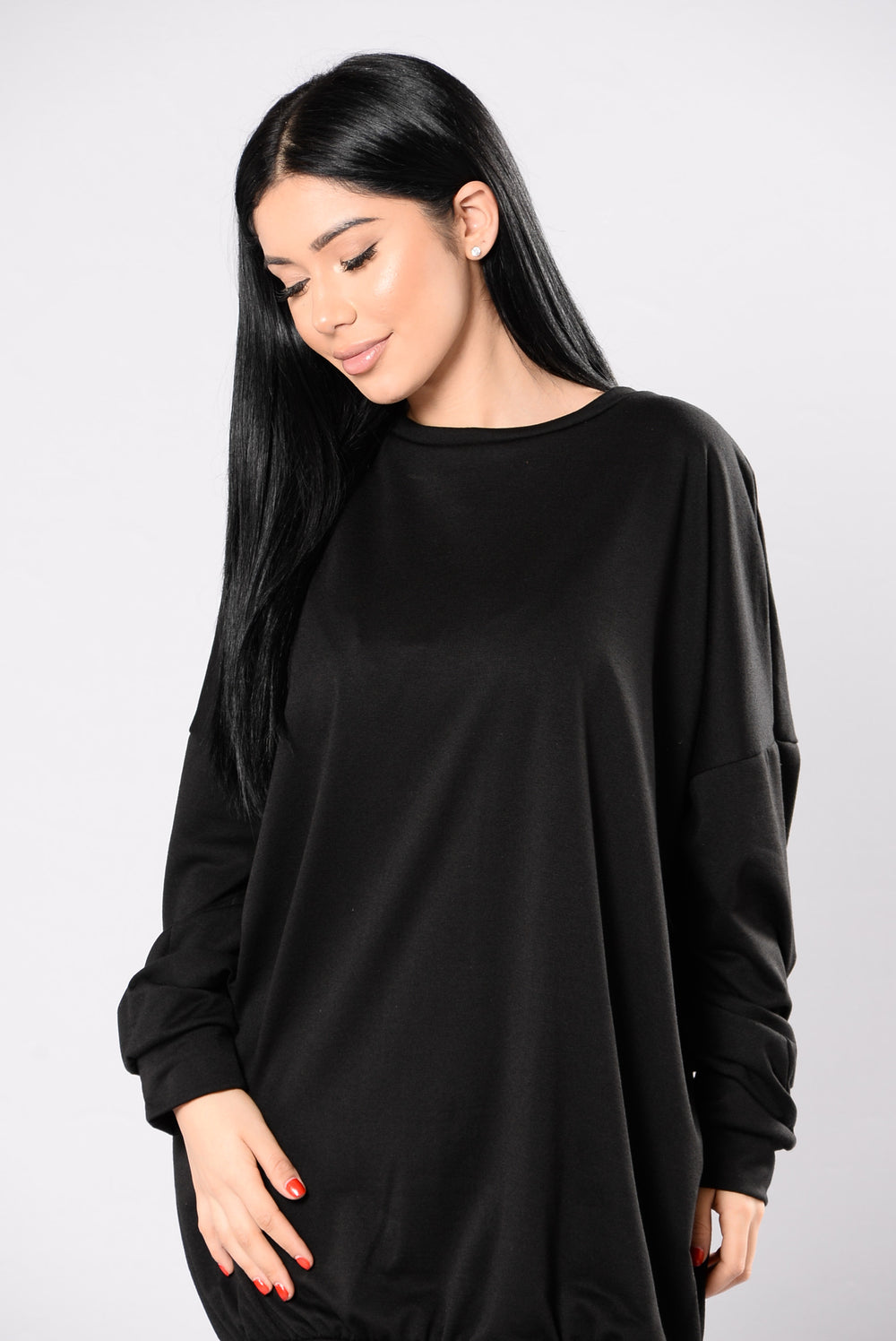 Waiting For You Tonight Tunic - Black