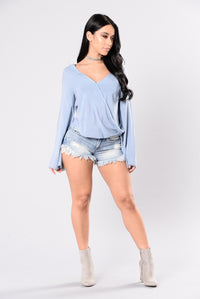 Listen To Your Heart Top - Denim Blue