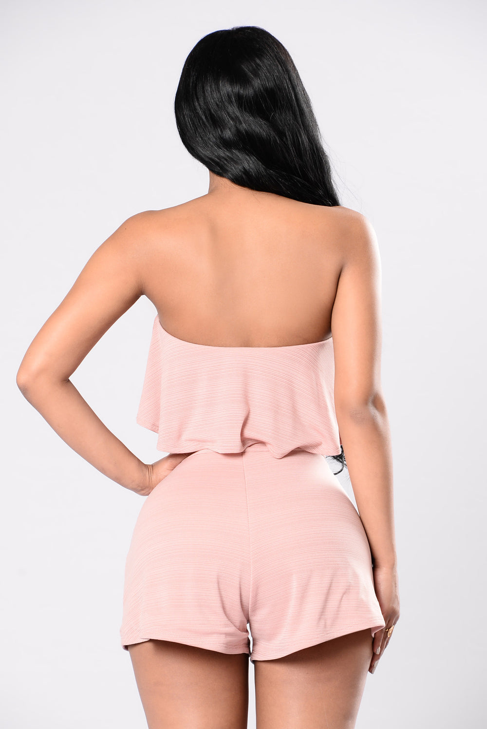 Kissing Power Romper - Blush