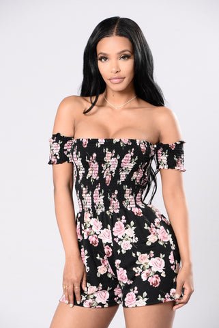 Hey There Sugar Romper - Black