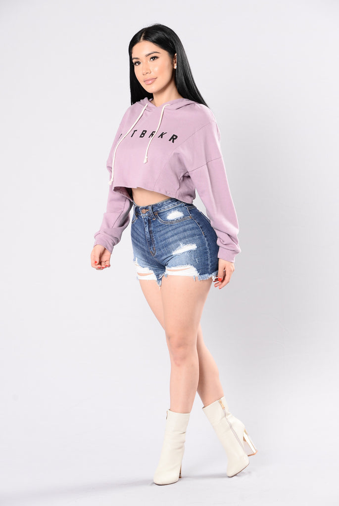 HRTBRKR Top - Lavender/White