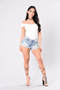 The Place To Be Bodysuit - Ivory