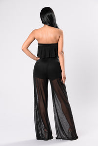 See You Clearly Jumpsuit - Black