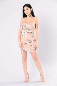 Flowers Are Blooming Dress - Mauve