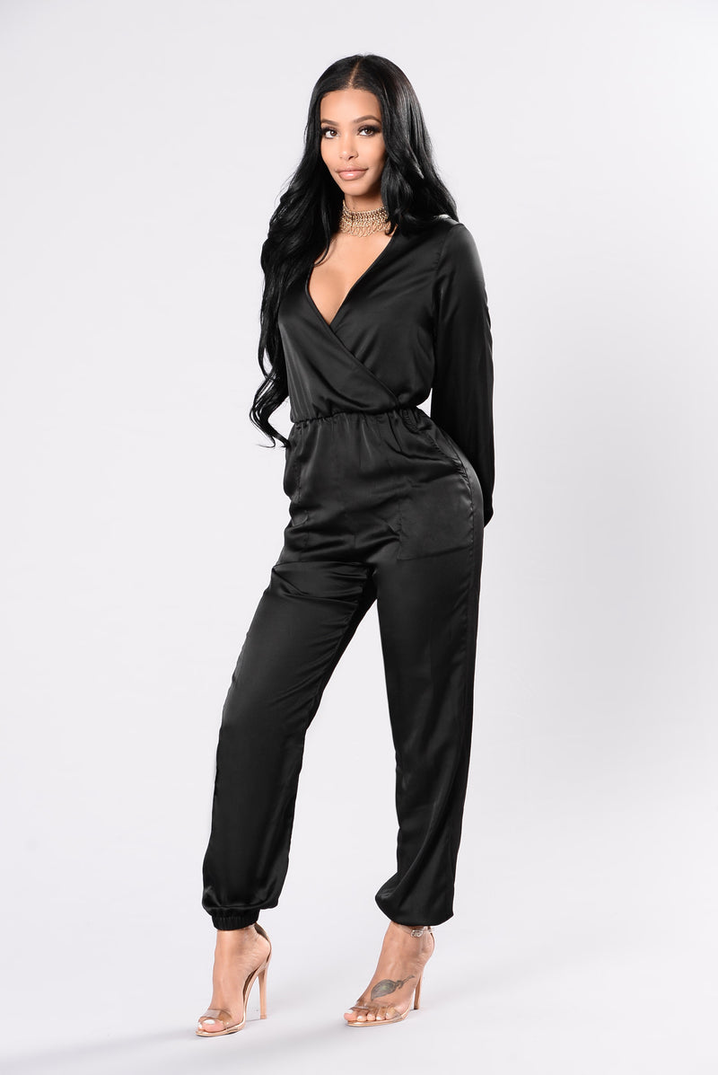 Hearts A Mess Jumpsuit - Black