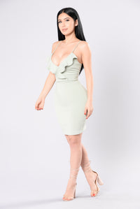 Lovely Lady Dress - Sage