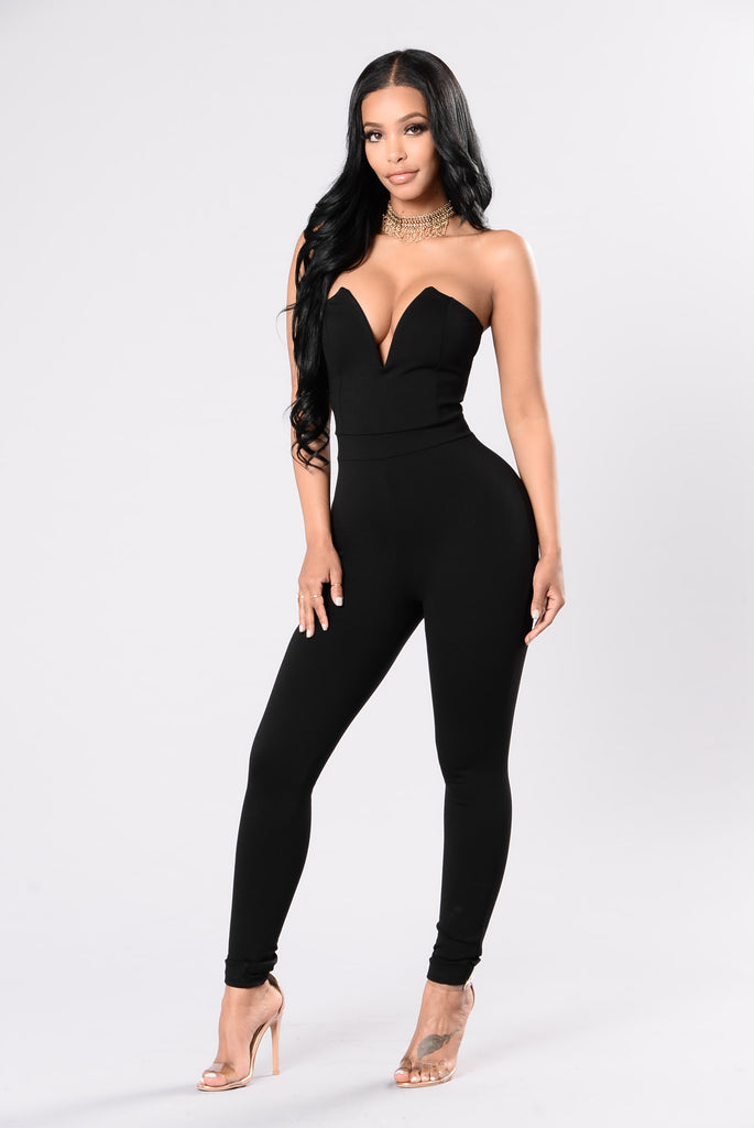 Hold Me With Your Eyes Jumpsuit - Black
