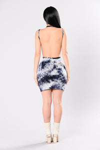 Radiate Positive Vibes Dress - Navy