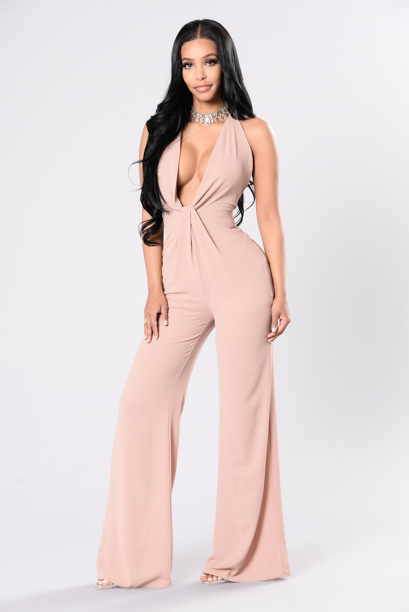 Cant Stop My Love Jumpsuit - Nude-7974