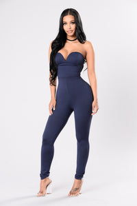Baby Be Mine Jumpsuit - Navy Angle 1