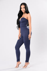 Baby Be Mine Jumpsuit - Navy Angle 3