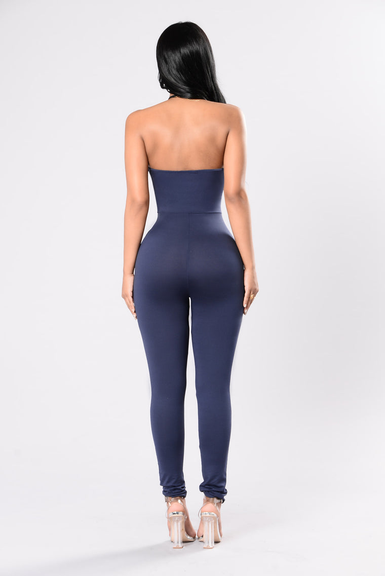 Baby Be Mine Jumpsuit - Navy
