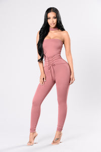 Jealousy In The Air Jumpsuit - Light Marsala