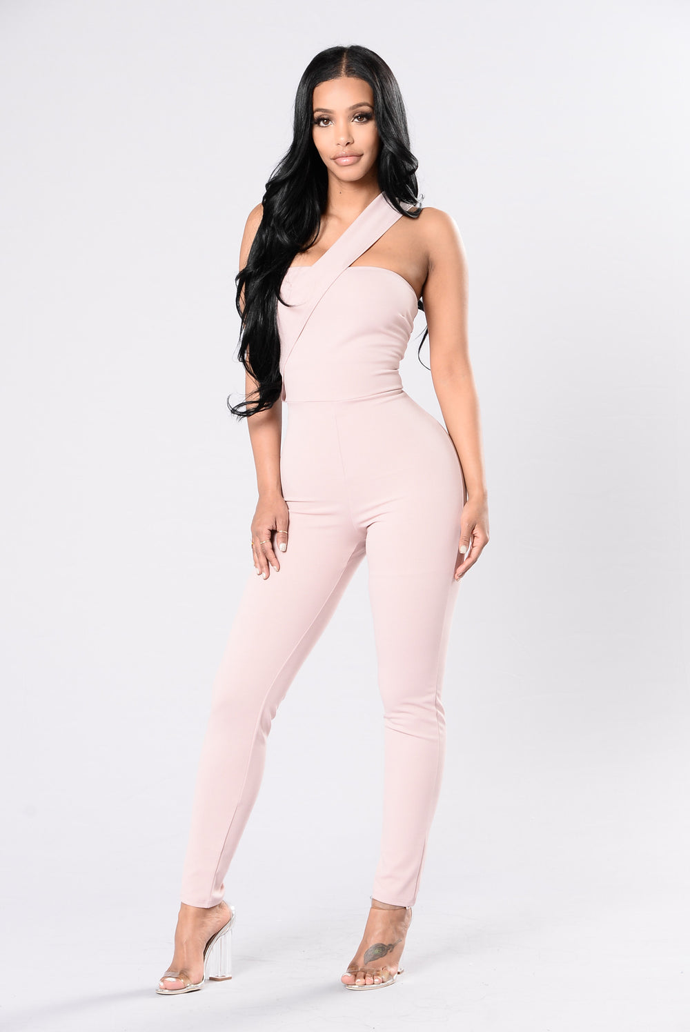 Off Chemistry Jumpsuit - Dark Mauve