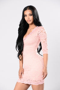 Turn Up The Heat Dress - Blush
