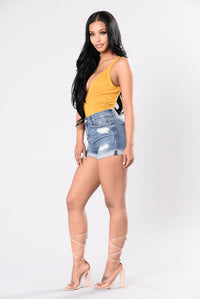 Round The Block Bodysuit - Mustard