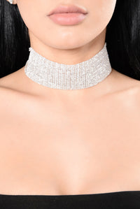 Don't Text Back Choker - Silver