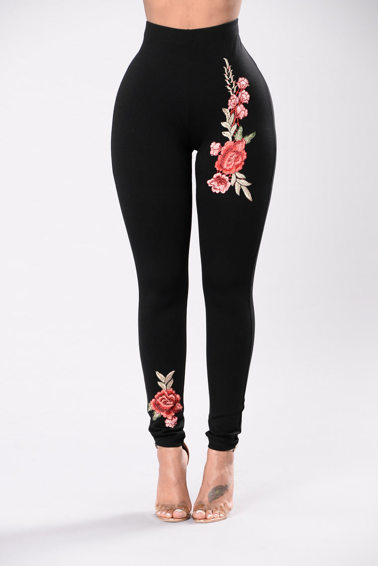 The Final Rose Leggings - Black